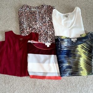 Ann Taylor Loft 5pc shirt lot